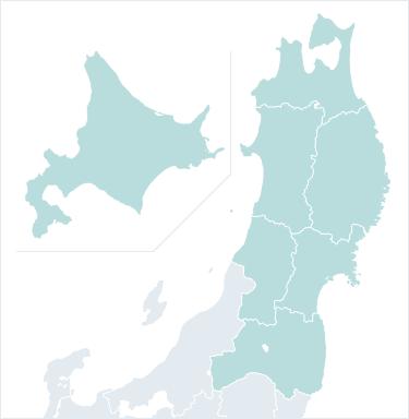 北海道・東北地方の地図