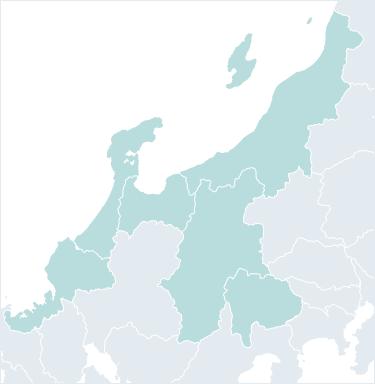 北陸・甲信越地方の地図